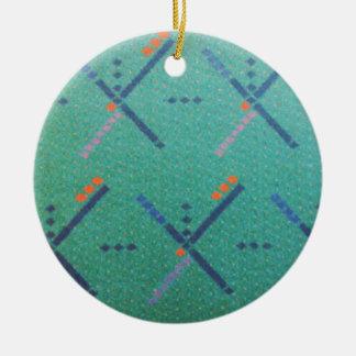 Portland Oregon Airport Carpet Christmas Ornament