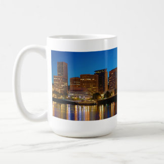 Portland Oregon at Night panorama Coffee Mug