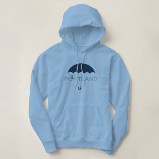 Portland Oregon Bicycle Umbrella Hoodie Sweatshirt