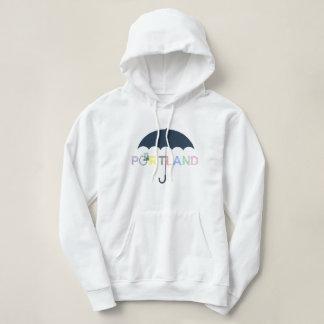 Portland Oregon Bike Umbrella Hoodie Sweatshirt