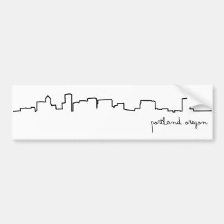 Portland, Oregon Cityscape Bumper Sticker