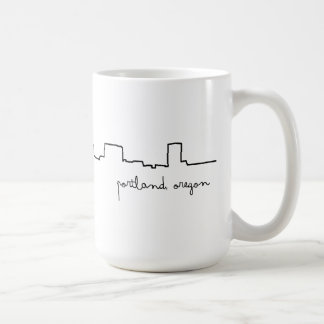 Portland, Oregon Cityscape Love Mug