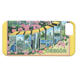 Portland Oregon Large Letter Greetings iPhone 5 Cases