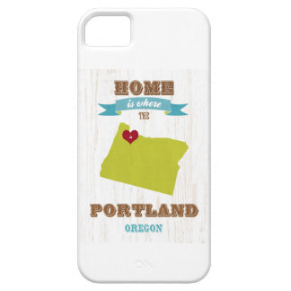 Portland, Oregon Map – Home Is Where The Heart Is iPhone 5 Cover