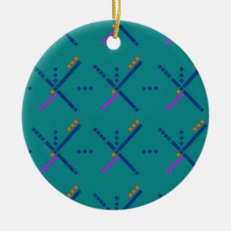 Portland Oregon PDX Airport Carpet Christmas Ornament