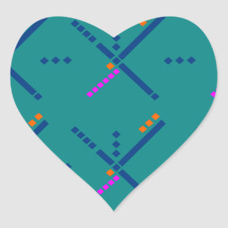 Portland Oregon PDX Airport Carpet Heart Sticker