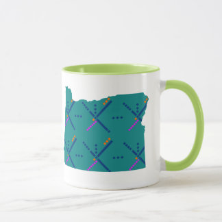 Portland Oregon PDX Airport Carpet Mug