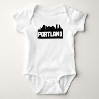 Portland Oregon Skyline Baby Bodysuit