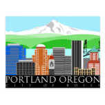 Portland Oregon Skyline with Mount Hood Postcard