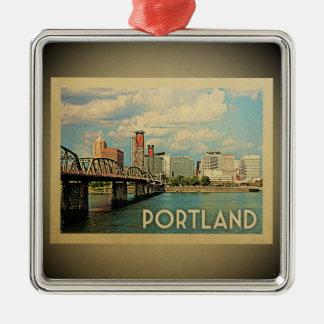 Portland Oregon Vintage Travel Ornament