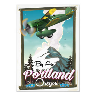 Portland, Oregon vintage travel poster