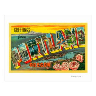 Portland, OregonLarge Letter Scenes Postcard
