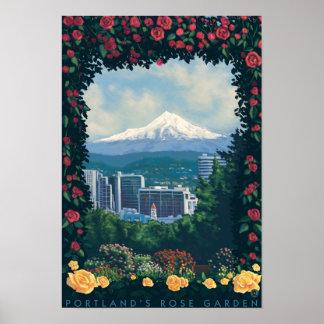 Portland, OregonRose Garden Scene Poster