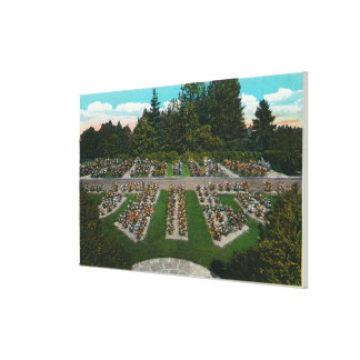 Portland, OregonView of the Rose Test Gardens Canvas Print