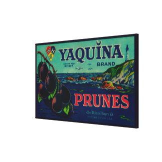 Portland, OregonYaquina Prune Label Canvas Print