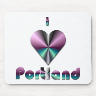 Portland -- Purple Turquoise Mouse Pads