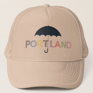 Portland Rain Weather Baseball Cap Trucker Hat