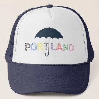 Portland Rain Weather Navy Baseball Cap Hat