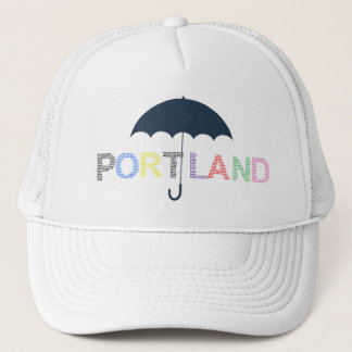 Portland Rain Weather White Baseball Cap Hat