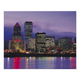 Portland Skyline Poster