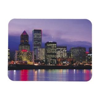 Portland Skyline Rectangular Photo Magnet