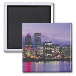 Portland Skyline Square Magnet