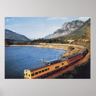 Portland Streamliner, Columbia River Gorge Vintage Poster