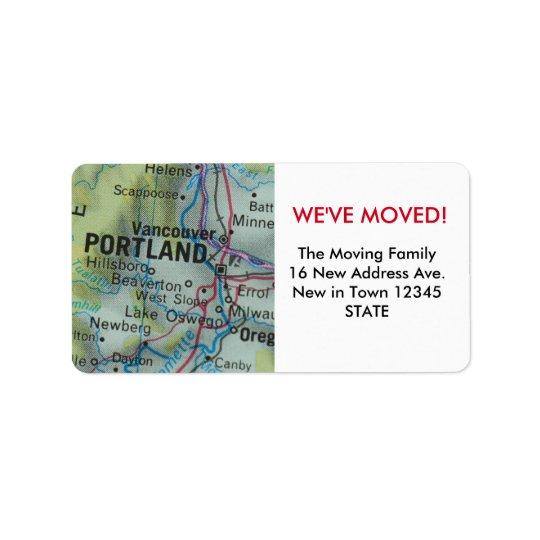 Portland We've Moved label