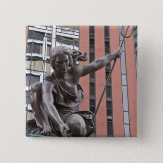 Portlandia statue, Portland, Oregon 15 Cm Square Badge