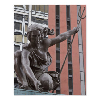 Portlandia statue, Portland, Oregon Poster