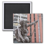 Portlandia statue, Portland, Oregon Square Magnet