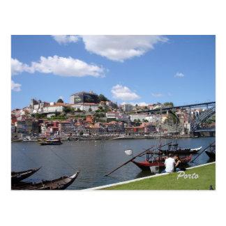 Porto by the river, postcard