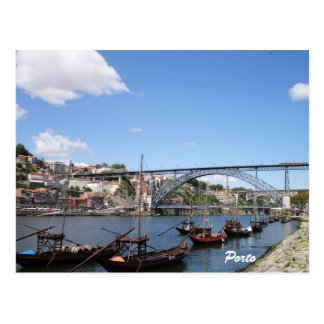 Porto by the river-postcard postcard