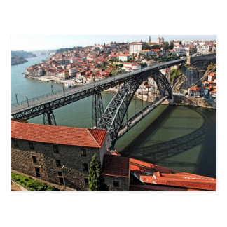 Porto city Iron Bridge, Portugal Postcard