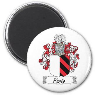Porto Family Crest 6 Cm Round Magnet