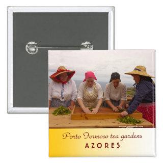 Porto Formoso tea gardens 15 Cm Square Badge