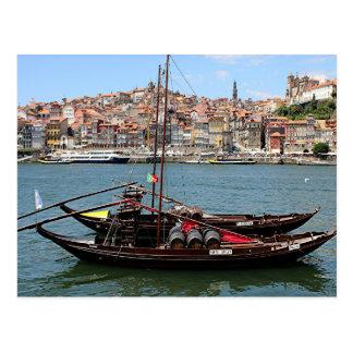 Porto Offley boat, Portugal Postcard