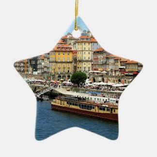 Porto, Portugal Ceramic Star Decoration