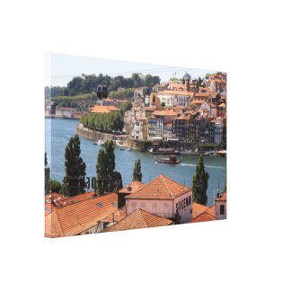 Porto, Portugal from the roof tops Canvas Print
