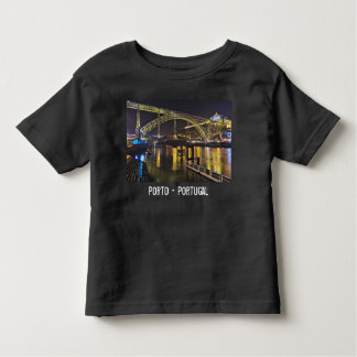 Porto - Portugal. Night Scene Near Douro River Toddler T-Shirt