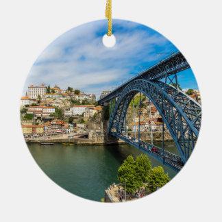 Porto Portugal Scenic Christmas Circle Ornament