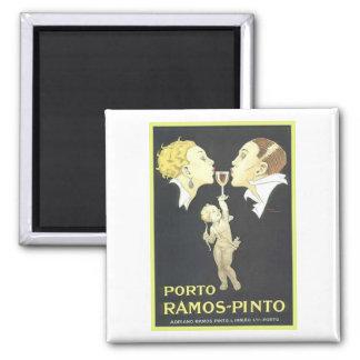 Porto Ramos Pinto Vintage Ad Square Magnet