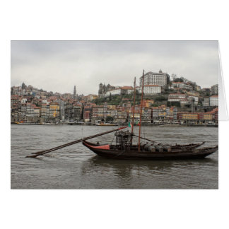 Porto waterfront, Portugal Greeting Card