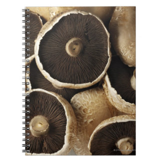 Portobello Mushrooms on White Background Spiral Note Book