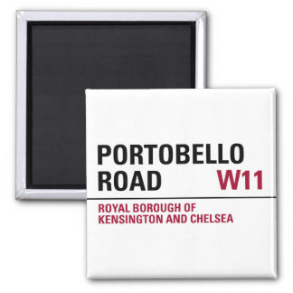 Portobello Road Sign Fridge Magnet