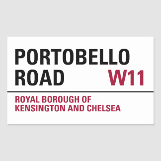Portobello Road Sign (pack of 4) Rectangular Sticker