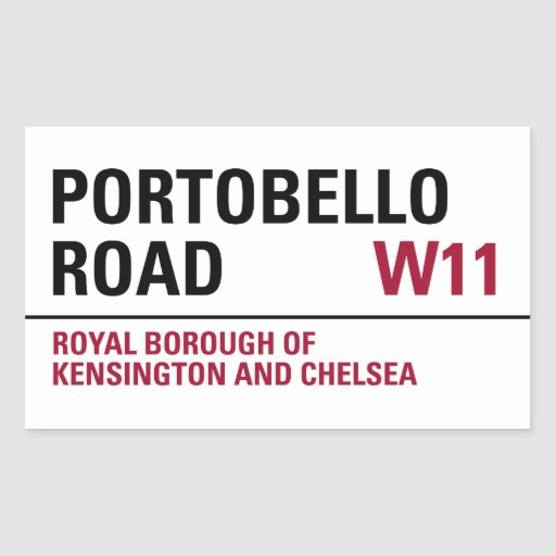Portobello Road Sign (pack of 4) Rectangle Sticker