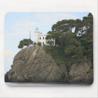 Portofino Italy lighthouse Mousepads