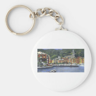 Portofino Basic Round Button Key Ring