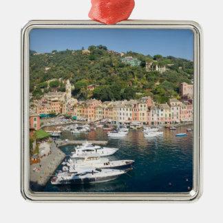 Portofino  panorama square metal christmas ornament